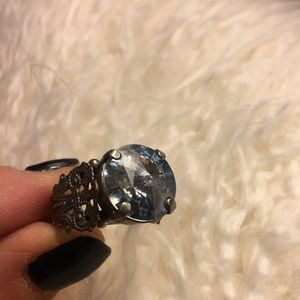 Sorrelli blue crystal ring
